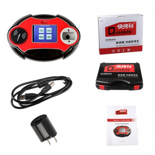 Quickly 4C/4D/46/48 Code Reader Chip Transponder Auto Key Programmer V2.14.8.16 Supports Read TOYOTA H Key