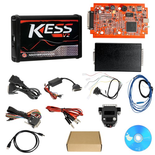 (US Ship No Tax) Kess V2 V5.017 Online Version V2.70 for 140 Protocol and EU Version V2.23 KTAG 7.020 Firmware Red PCB