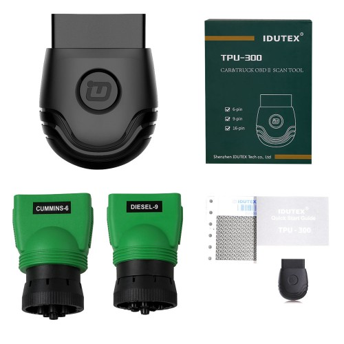 IDUTEX TPU300 Passenger Cars&Commercial Vehicle OBD2 Scanner Supports Android