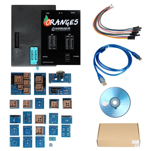 (UK Ship)OEM Orange 5 Orange5 V1.34 Professional Programming Device Supports WINXP/WIN7/WIN8 with Full Packet Hardware plus Enhanced Version Software