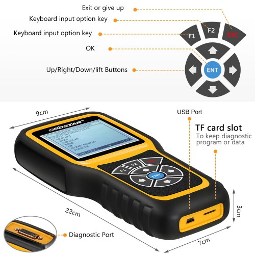 (EU US UK Ship No Tax) OBDSTAR X300M Specially for Odometer Adjustment via OBD2 Adds Benz V-A-G MQB
