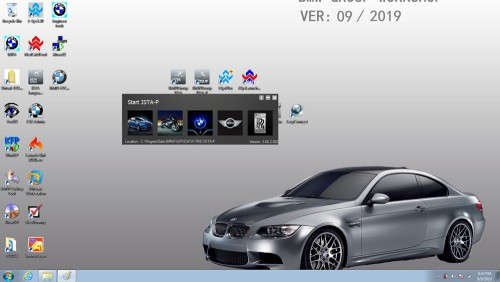 BMW ICOM 2019.09 Software HDD 500G Diagnostic Programming System ISTA 4.19.12 SDP Programming Database 4.19.13