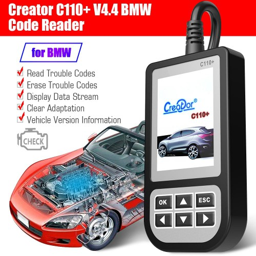 [Ship from US/AU/UK] Creator C110+ Code Reader V6.0 for BMW From 2000 to 2013 Year