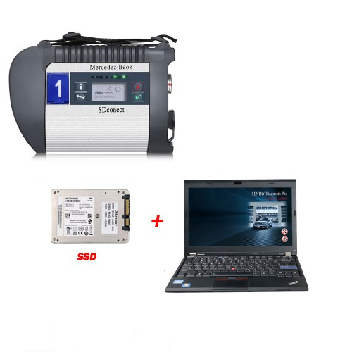 DOIP MB SD C4 PLUS Connect Compact C4 Star Diagnosis with 2020.12 Software SSD Plus Lenovo X220 I5 4GB Laptop