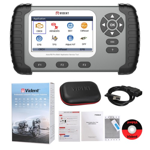 (EU, US Ship No Tax) VIDENT iAuto702 iAuto 702 Pro Multi-Application Service Tool 31 Special Functions 3 Yeas Update Online