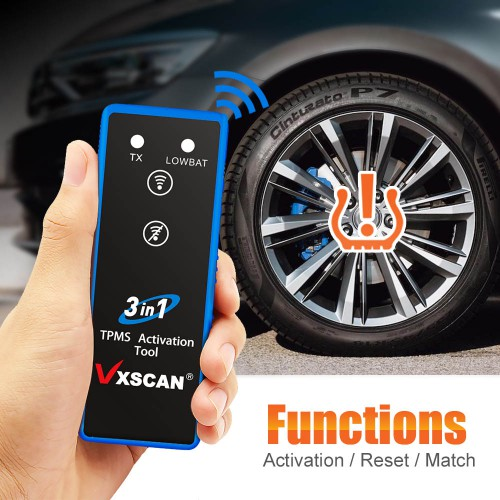 VXSCAN 3 in 1 Tire Pressure TPMS Activation Tool for TOYOTA GM FORD