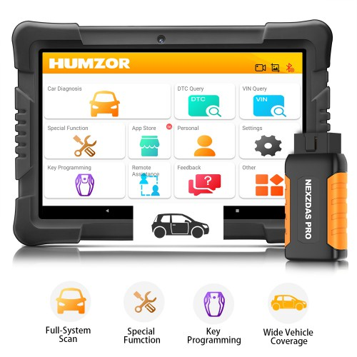 [6% OFF $281.06] (EU US Ship No Tax) Humzor NexzDAS Pro Bluetooth Full System Auto Diagnostic Tool OBD2 Scanner with IMMO ABS EPB SAS DPF Oil Reset