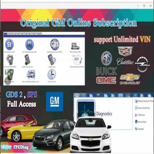 One Year Original GM Online Programming Software GM SPS Subscription for GM MDI2 Tech2 VCM II