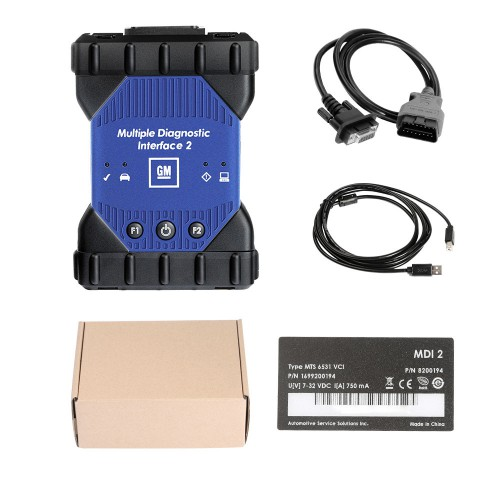 Wifi GM MDI 2 Diagnostic Tool Multiple Diagnostic Interface Supports GM Original Software DHL Free Shipping
