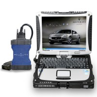 Maserati MDVCI Diagnostic Scanner Supports Diagnosis + Maintenance Data with Software Installed in Panasonic CF19 Laptop