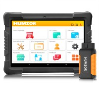Humzor NexzDAS ND506 PLUS Full Version 10 Inch Tablet Diesel Commercial Vehicles Diagnostic Tool with 10 Converters