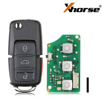 XHORSE XKB509EN Wired Universal Remote Key B5 Style Flip 3+1 Buttons for VVDI Key Tool English Version