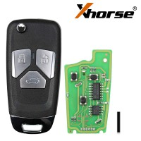 XHORSE XKAU01EN for Audi Style Wired VVDI Universal Flip Remote Key with 3/4 Button 5pcs/lot