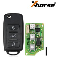 Xhorse XKB510EN Universal Remote Key B5 Type 3 Buttons for VVDI VVDI2 Key Tool(English Version) 5pcs/lot
