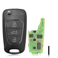 XHORSE XNHY02EN Wireless Universal Remote Key for HYUNDAI Flip 3 Buttons Remotes for VVDI Key Tool