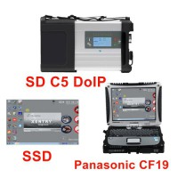 New MB SD C5 DOIP-C5 Star Diagnostic with 2021.03 Software SSD Pre-installed on Second Hand Panasonic CF19 Laptop