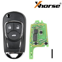 XHORSE XKBU03EN Wired Universal Remote Key Flip 3 Buttons Buick Style for VVDI VVDI2 Key Tool English Version