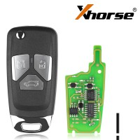 XHORSE XNAU01EN Audi Style Wireless VVDI Universal Flip Remote Key with 3/4 Button