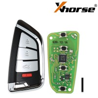 XHORSE XSKF20EN Knife Style Universal XS Series Smarty Remote With 4 Buttons for VVDI Key Tool VVDI2