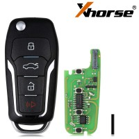 [EU Ship No Tax] XHORSE XEFO01EN Super Remote Key Ford Style Flip 4 Buttons Built-in Super Chip English Version 5pcs/lot