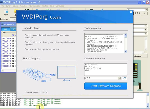 VVDI PROG Programmer  Firmware Version