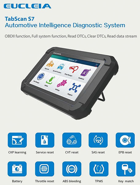Eucleia TabScan S7 Automotive Intelligence Diagnostic Tool Scanner