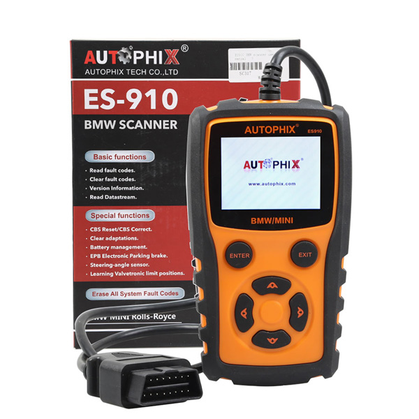 AUTOPHIX ES910 Car OBD Diagnostic Scanner Repair Tool for BMW MINI  Rolls-Royce Engine ABS Airbag Gearbox With Special function