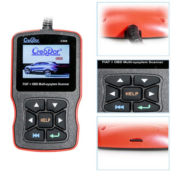Creator C508 OBDII/EOBD Multi-System Scanner for FIAT,Alfa,Abrath,Lancia  Airbag,ABS Scan Tool