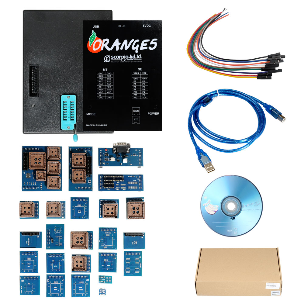 OEM Orange 5 Orange5 Professional Programming Device Supports  WINXP/WIN7/WIN8 with Full Packet Hardware plus Enhanced Version Software