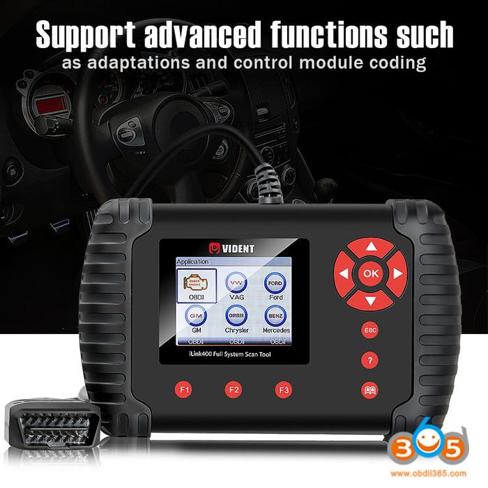 (Free Ship from US) Vident iLink400 Chrysler Dodge Jeep Vident Scan Tool  Full System Diagnostic Scanner Update Online