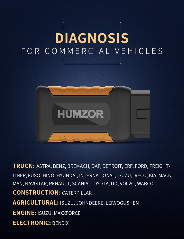 Humzor NexzDAS ND506 supported vehicles