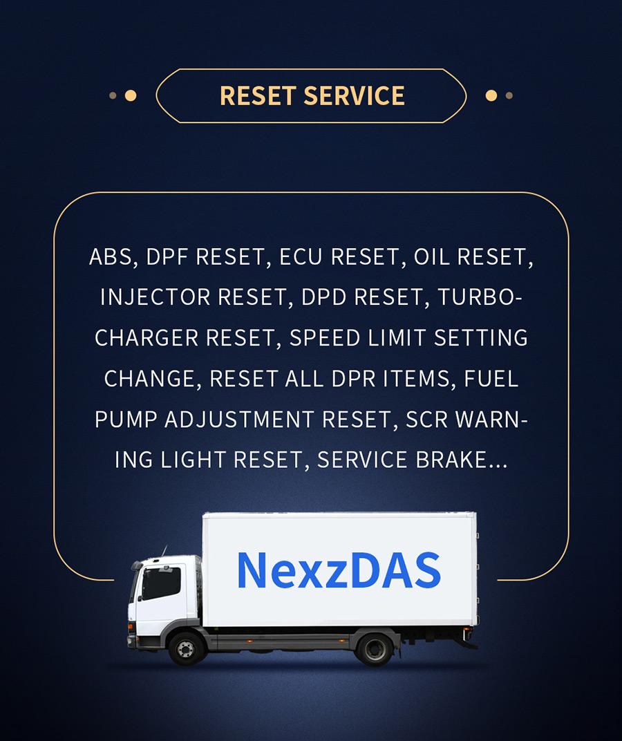 Humzor NexzDAS ND506 reset service function