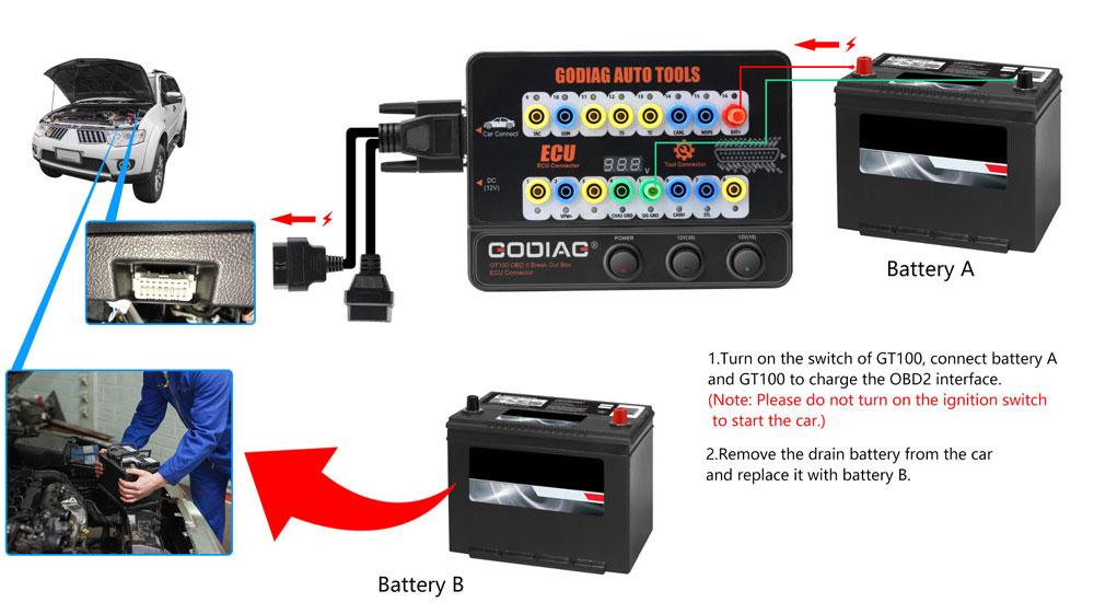 godiag gt100 change car battery