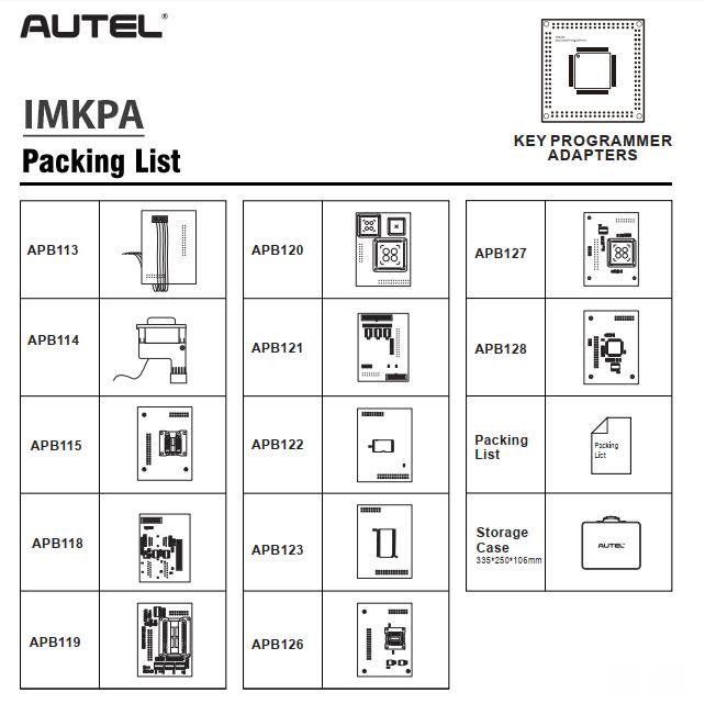 Autel IMKPA Key Programming Accessories Kit