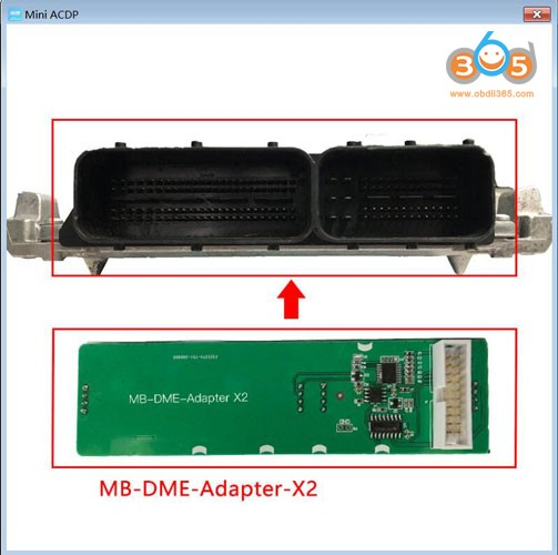 Yanhua Mini ACDP Mercedes Benz DME clone using tip 2