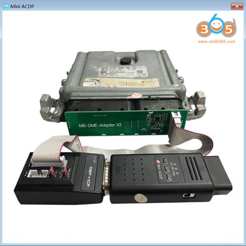 Yanhua Mini ACDP Mercedes Benz DME clone using tip 3